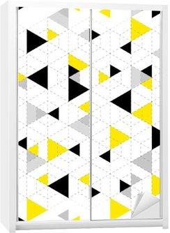 Geometrisk mønster baggrund Garderobe Klistermærke