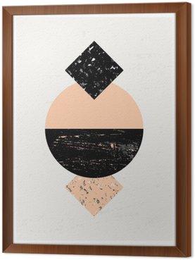 Gerahmtes Leinwandbild Abstrakte geometrische Komposition