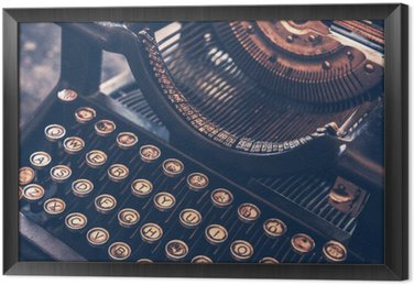Gerahmtes Leinwandbild Antike Schreibmaschine