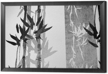 Gerahmtes Leinwandbild Bamboo texture