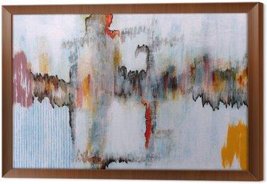 Gerahmtes Leinwandbild Eine abstrakte Malerei