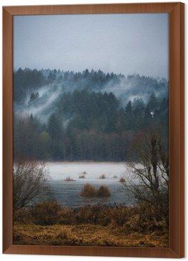 Gerahmtes Leinwandbild Herbst Fogs / Mists of Vancouver Island