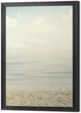 Gerahmtes Leinwandbild Jahrgang tropischen Strand im Sommer