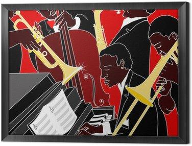 Gerahmtes Leinwandbild Jazzband