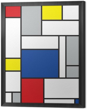 Gerahmtes Leinwandbild Mondrian inspirierten Kunstwerke