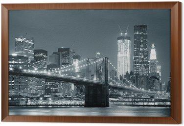 Gerahmtes Leinwandbild New York City, Brooklyn Bridge