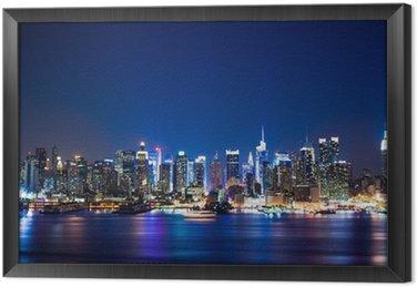 Gerahmtes Leinwandbild New york manhattan skyline