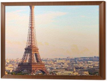 Gerahmtes Leinwandbild Paris