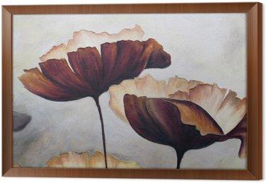 Gerahmtes Leinwandbild Poppy abstrakte Malerei