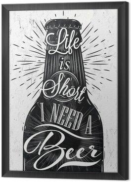 Gerahmtes Leinwandbild Poster Vintage-Bier