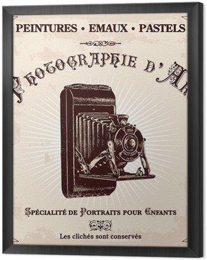 Gerahmtes Leinwandbild Publicité ancienne d'un photographe