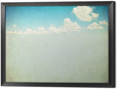 Gerahmtes Leinwandbild Retro-Bild des bewölkten Himmel