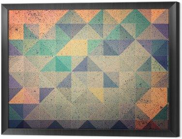 Gerahmtes Leinwandbild Rosa und lila Dreieck abstrakten Hintergrund Illustration