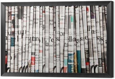 Gerahmtes Leinwandbild Sammlung von Zeitungen