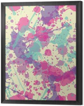 Gerahmtes Leinwandbild Splatter-nahtloses Muster