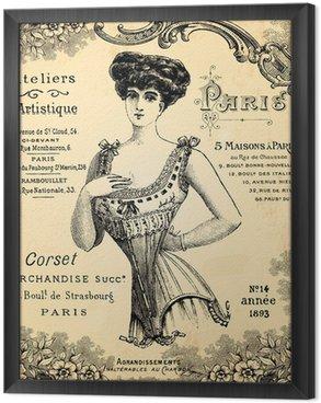 Gerahmtes Leinwandbild Werkstatt corseterie
