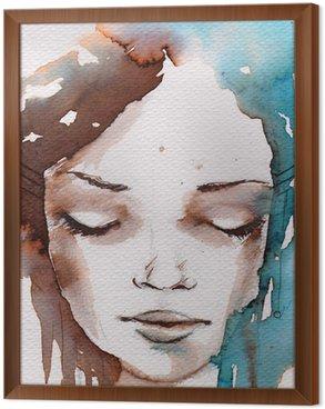 Gerahmtes Leinwandbild Winter, kalt portrait