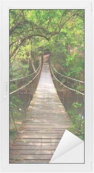 Glas- och Fönsterdekorer Bro till djungeln, Khao Yai nationalpark, Thailand