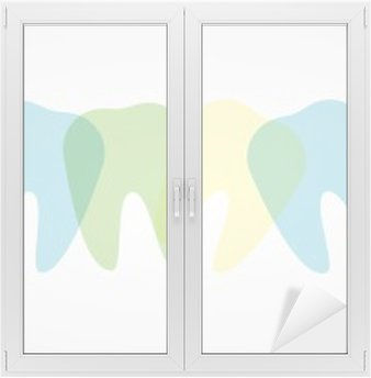 Glas- och Fönsterdekorer Färgstarka tänder illustration