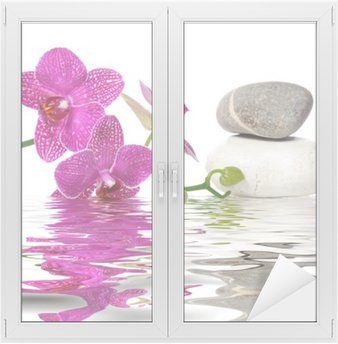Glas- och Fönsterdekorer Helt enkelt vackra orkidéer