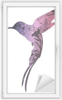 Glas- och Fönsterdekorer Hummingbird