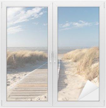 Glas- och Fönsterdekorer Nordsee Strand auf Langeoog