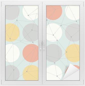 Glas- och Fönsterdekorer Scandinavian geometrisk modern seamless