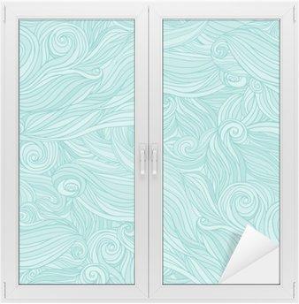 Glas- och Fönsterdekorer Seamless abstrakt mönster, härva vågigt hår bakgrund