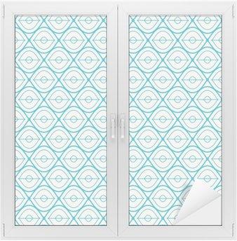 Glas- och Fönsterdekorer Seamless geometriskt mönster