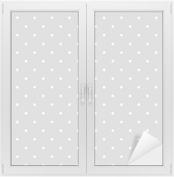 Glas- och Fönsterdekorer Seamless vit och grå vektor mönster eller kakel bakgrund med prickar