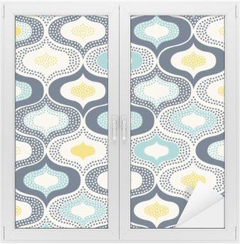 Glas- och Fönsterdekorer Sömlösa abstrakt prydnad prickar klotter pattern__