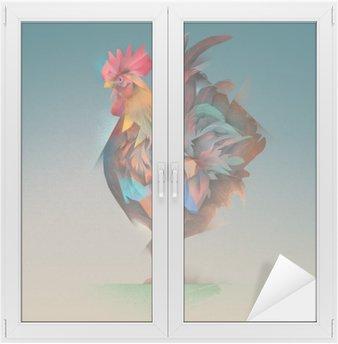 Glas- och Fönsterdekorer Tupp