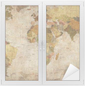 Glas- och Fönsterdekorer Världskartan