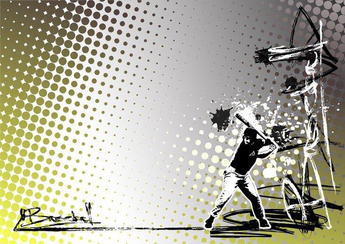 graffiti baseball poster background