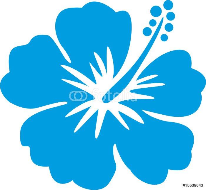 Hawaiiblume blau