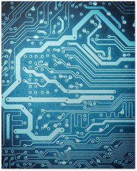 HD Poster Blauen Platine Textur Nahaufnahme