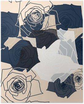 HD Poster Blumenmuster nahtlose, EPS-10