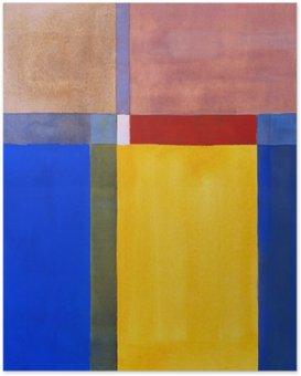 HD Poster Eine minimalistische abstrakte Malerei
