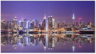 HD Poster Manhattan Skyline mit Reflexionen