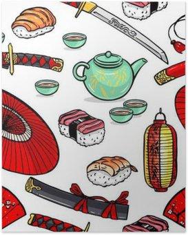 HD Poster Nahtlose japanischen Symbole