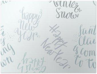 HD Poster Nahtlose Vektor-Schriftzug-Muster