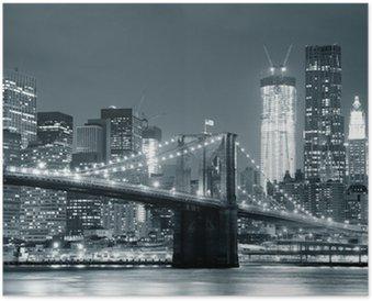 HD Poster New York City, Brooklyn Bridge