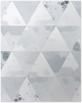 HD Poster Schwarz-Weiß-Muster