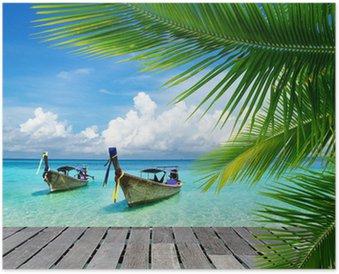 HD Poster Steg mit Blick auf das tropische Meer