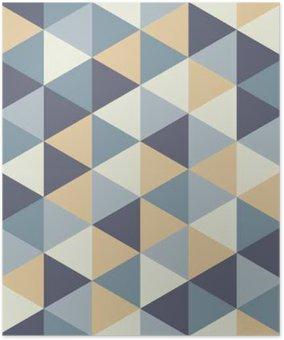 HD Poster Vector moderne nahtlose bunte Geometrie Dreieck Muster, Farbe abstrakte geometrische Hintergrund, Kissen bunten Druck, retro Textur, hipster Mode-Design