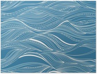 HD Poster Vector nahtlose abstrakte Muster, Wellen