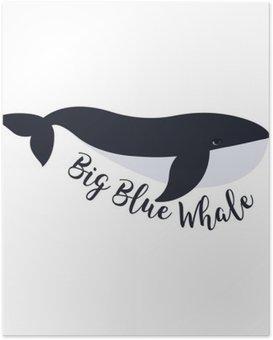 HD Poster Vektor-Illustration der Wal. Symbol-Design