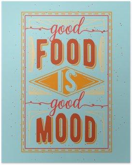 HD Poster Vintage Nahrung im Zusammenhang mit typographischen Zitat