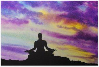 HD Poster Yogi in der Lotus-Position