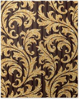 HD Poster Çiçek altın duvar kağıdı